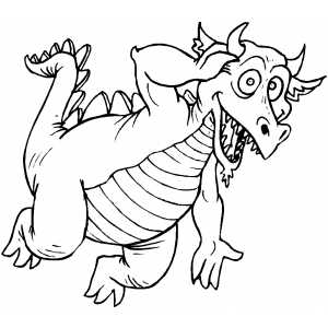 Excited Dragon coloring page