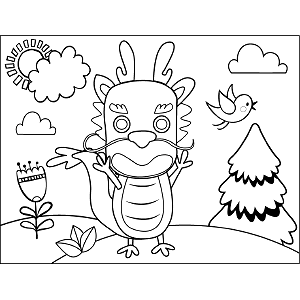 Fierce Dragon coloring page