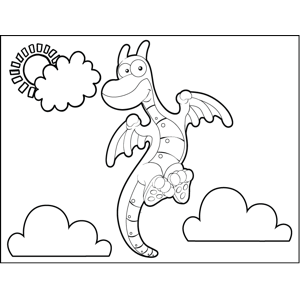 Horned Dragon coloring page