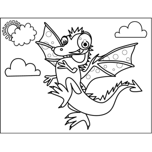 Proud Dragon coloring page