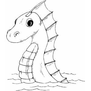 Easy sea monster drawing images for Sea monster coloring pages