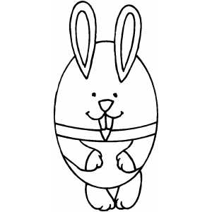 Bunny Egg coloring page