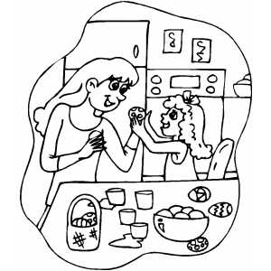 Coloring Eggs coloring page