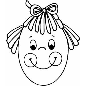 Egg Girl coloring page