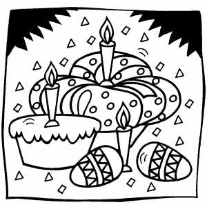 Eggs And Cakes coloring page