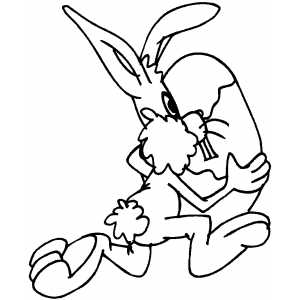 Running Bunny coloring page
