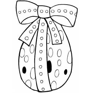 Standing Easter Egg coloring page