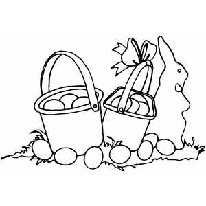 Two Easter Baskets coloring page