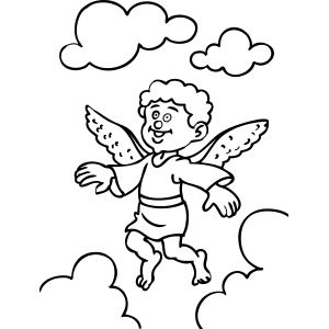 Boy Angel coloring page