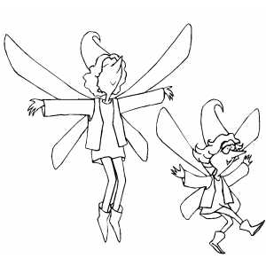 Dancing Fairies coloring page