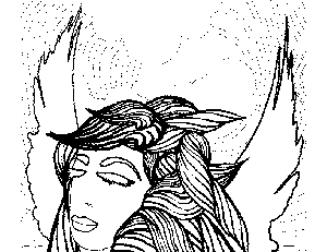 Fairy Dreaming Coloring Page