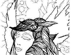 Fairy Eyes Closed Coloring Page