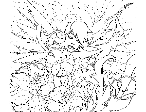 Fairy Sleeping Coloring Page
