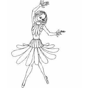 Fairy With Double Hands coloring page