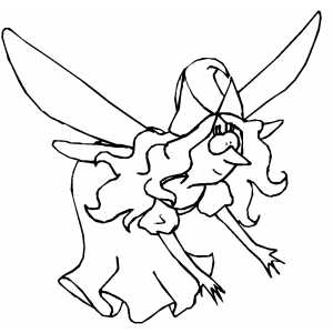 Fairy Woman coloring page