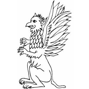 Angry Griffin coloring page