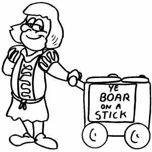 Boar On Stick coloring page