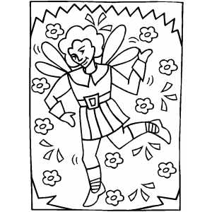 Dancing Elf coloring page
