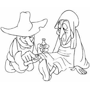 Dwarf Curing Woman coloring page