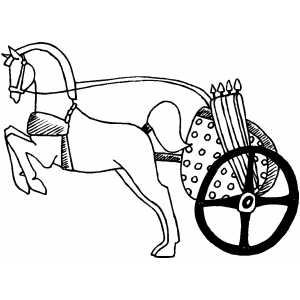 Horse And Chariot coloring page