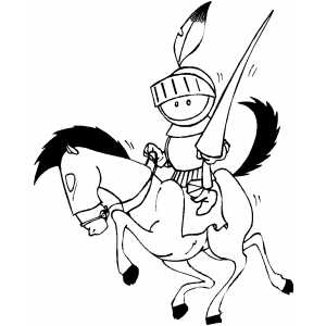 Knight With Pike coloring page