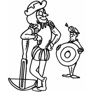 Marksman And His Target coloring page