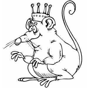 Rat King With Crown Coloring Page