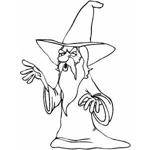 Screaming Wizard coloring page