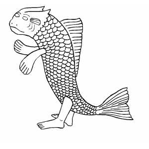 Standing Sea Creature coloring page