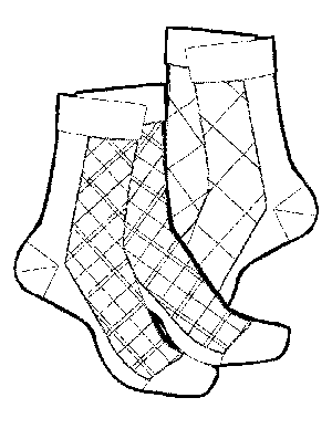 2 Pairs of Socks coloring page