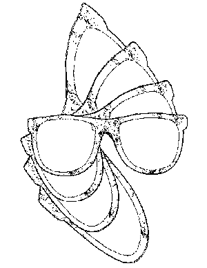 80s Sunglasses Design Coloring Page