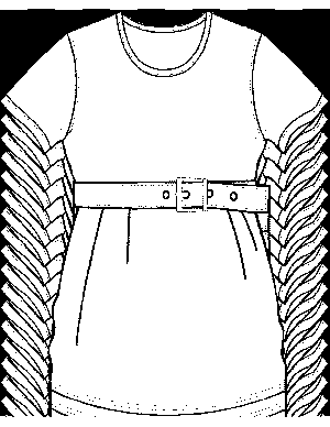 Dress with Empire Belt Coloring Page