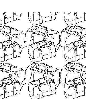Luggage Pattern coloring page
