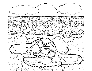 Sandals on the Beach coloring page