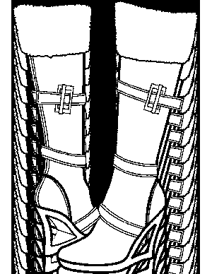 Snow Boots Coloring Page