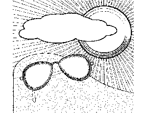 Sunglasses on the Beach 2 coloring page