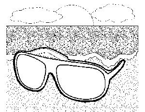 Sunglasses on the Beach 3 coloring page