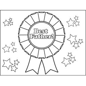 Best Father Medal coloring page
