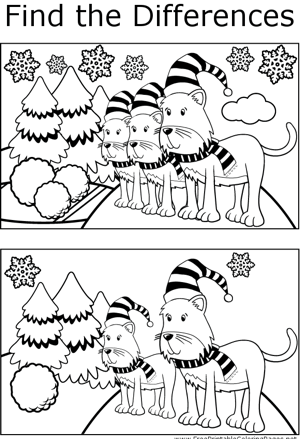 FTD Cats in Snow coloring page