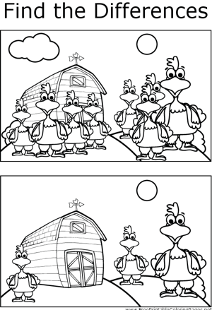 FTD Chickens coloring page