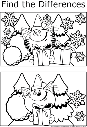 FTD Christmas Cat coloring page