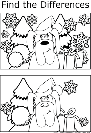 ftd christmas dog coloring page