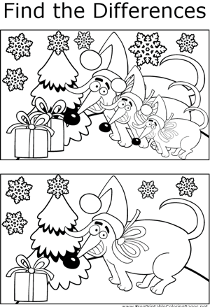 FTD Christmas Dogs coloring page