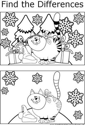 FTD Christmas Kitty coloring page