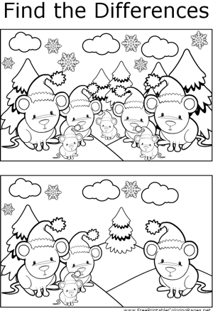 FTD Christmas Mice coloring page
