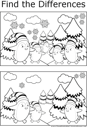 FTD Christmas Penguins coloring page