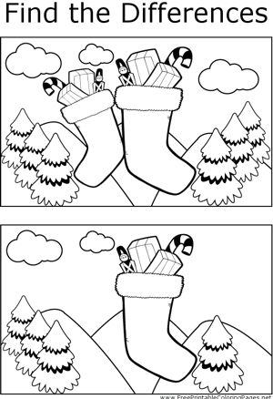 FTD Christmas Stockings coloring page