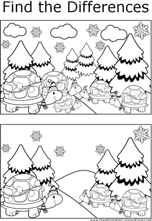 FTD Christmas Turtles coloring page