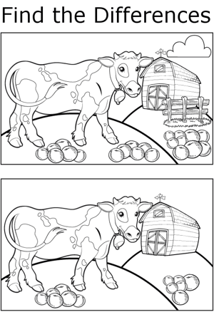 FTD Cow and Harvest coloring page