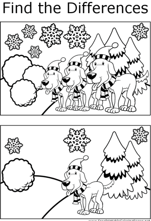 FTD Dogs in Snow coloring page